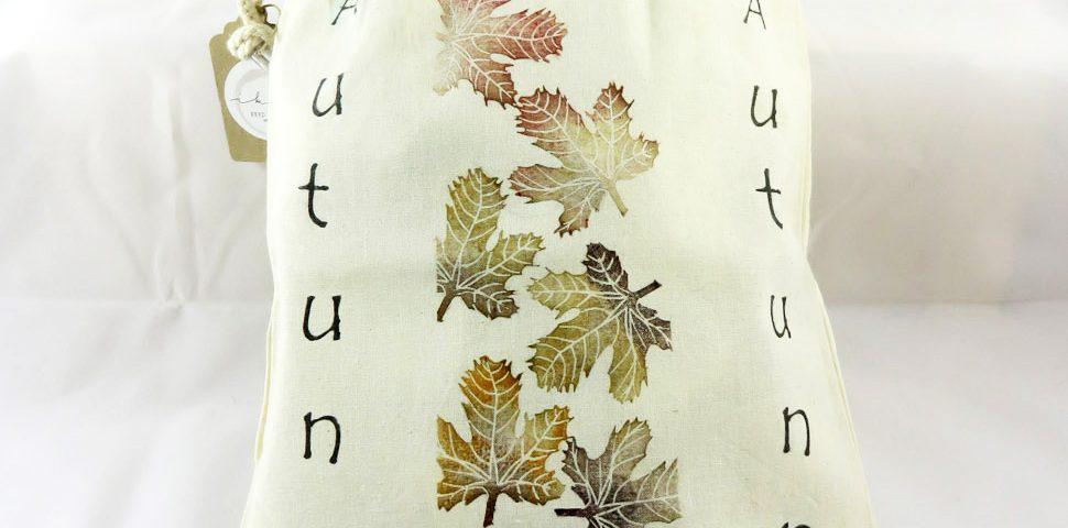 Borse stampate a mano: autunno